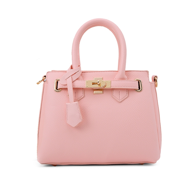 กระเป๋าสะพายข้างผู้หญิง PU Dutch (สี Pink pearl)