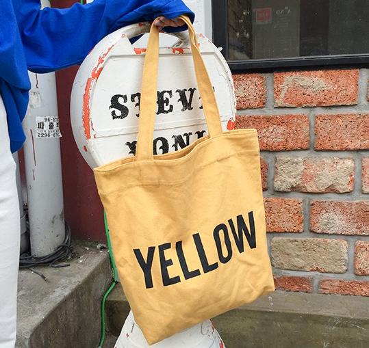 กระเป๋าผ้า LD004 Yellow ฮิต!!