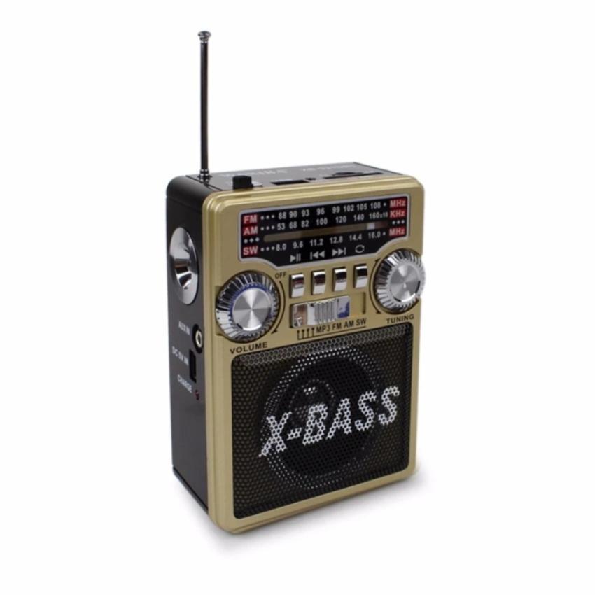 WAXIBA เครื่องเล่นวิทยุ AM/FM/MP3 มีช่องเสียบ USB , TF CARD , SD CARD / MMC SLOT ฟังเพลง MP3 รุ่น XB-631URT