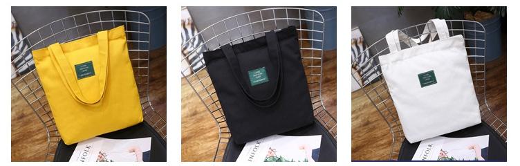 กระเป๋าผ้า LD003 black