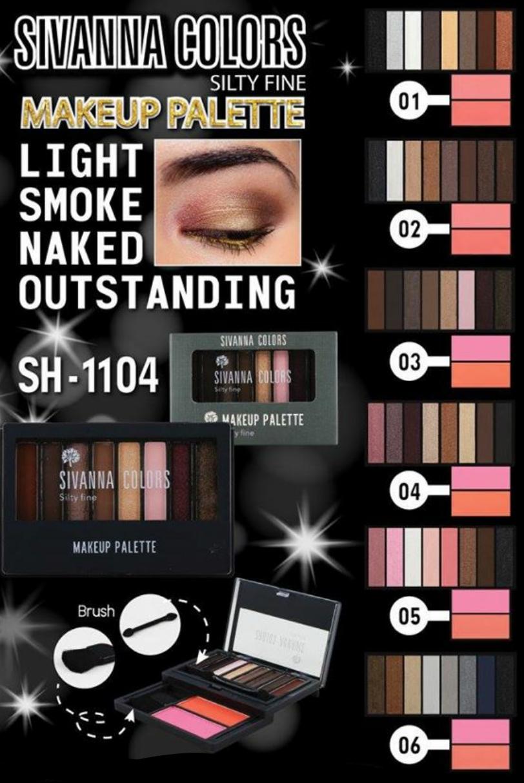 ขายส่ง SH1104 Sivanna makeup palette silty fine ทาตา 8 สี + ปัดแก้ม 2