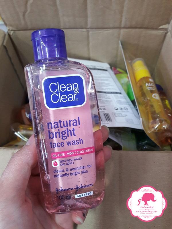CLEAN & CLEAR คลีนแอนด์เคลียร์ เนเชอรัล ไบรท์ เฟซ วอช