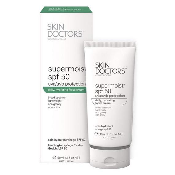 Skin Doctors Supermoist SPF 50 uva/uvb protection 50ml. ครีมกันแดด สกินด็อกเตอร์