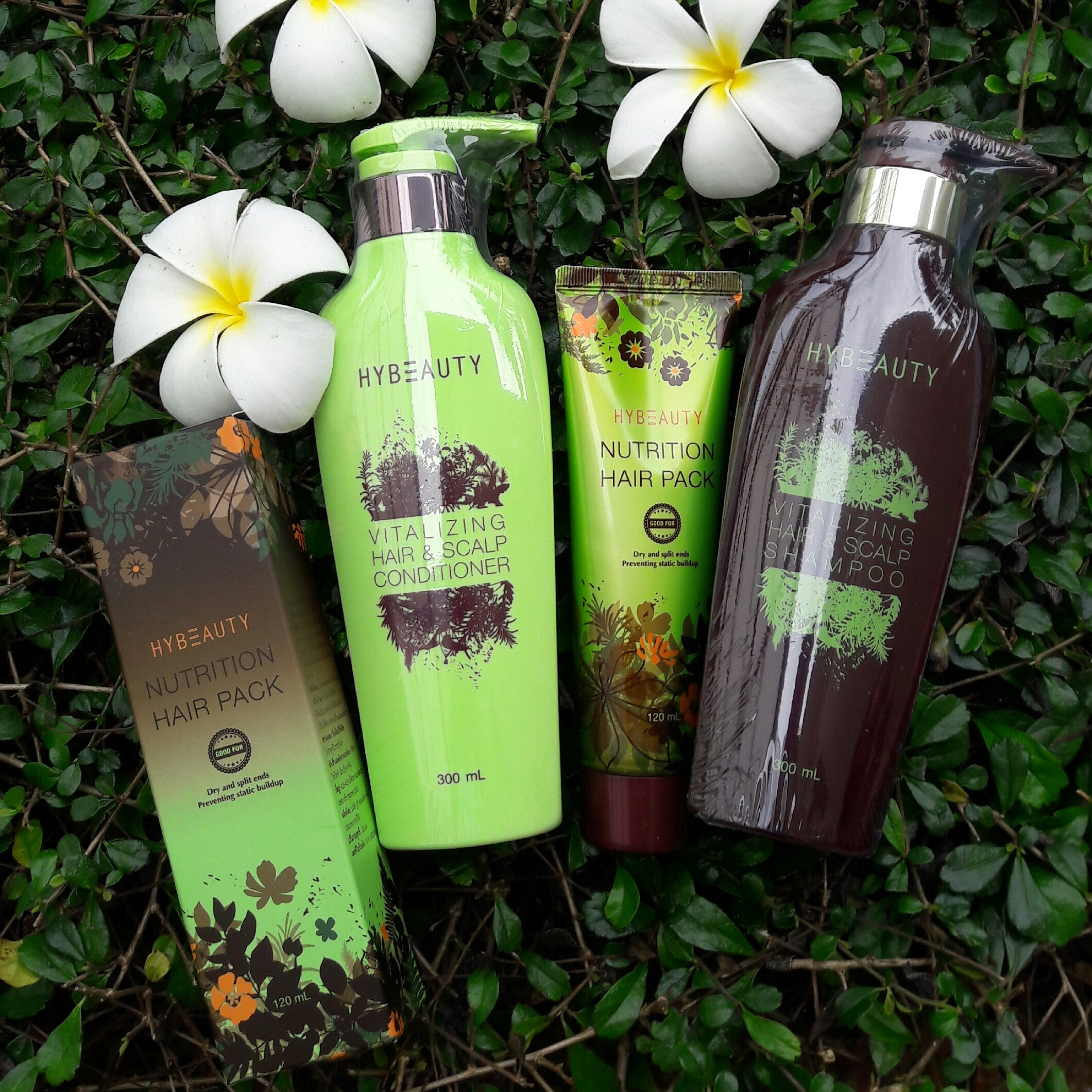 Hybeauty Hair Collection By Hylife (Shampoo + Conditioner + Hair Pack).