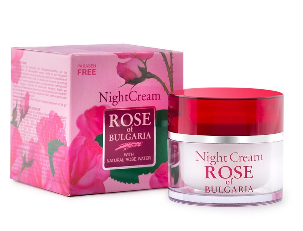 Rose of Bulgaria Night Cream ครีมบำรุงสำหรับกลางคืนผสมน้ำกุหลาบจากประเทศบัลแกเรีย 50ml.