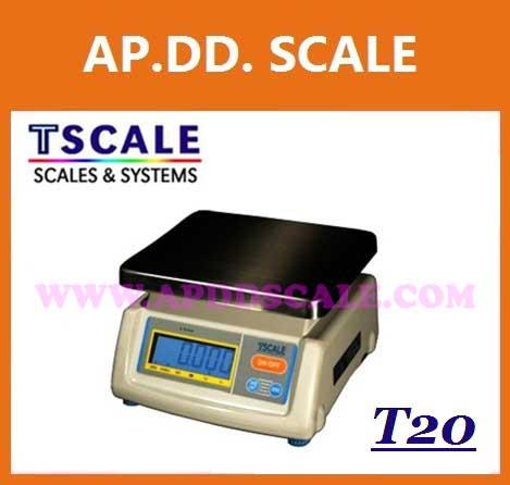 ตาชั่งดิจิตอล เครื่องชั่งดิจิตอล เครื่องชั่งแบบตั้งโต๊ะ 30kg ความละเอียด10g แท่น19x23cm.ยี่ห้อ TSCALE รุ่น T20