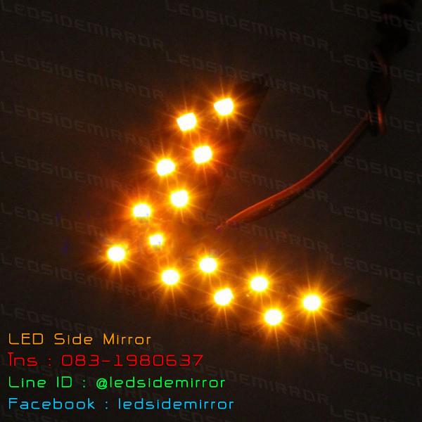 ไฟเลี้ยว LED SMD 14 ดวง 1 Step สีเหลือง