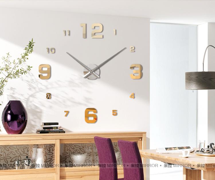 นาฬิกาDIY ขนาดจัมโบ้90cm สีทอง big3C