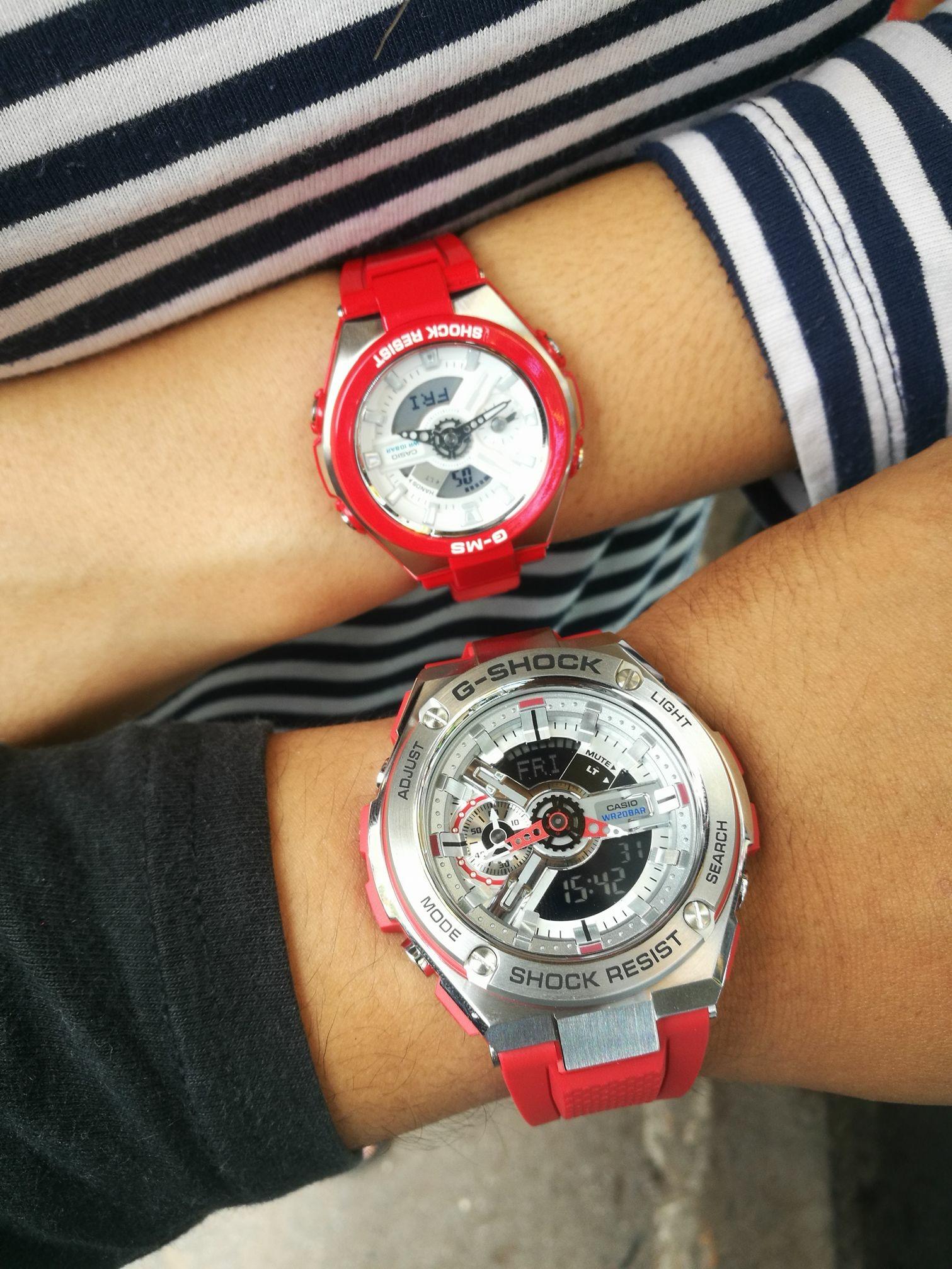 นาฬิกา Casio G-SHOCK x BABY-G คู่เหล็กSteel เซ็ตคู่รัก G-STEEL x G-MS series รุ่น GST-410-4A x MSG-400-4A Pair set ของแท้ รับประกันศูนย์ 1 ปี