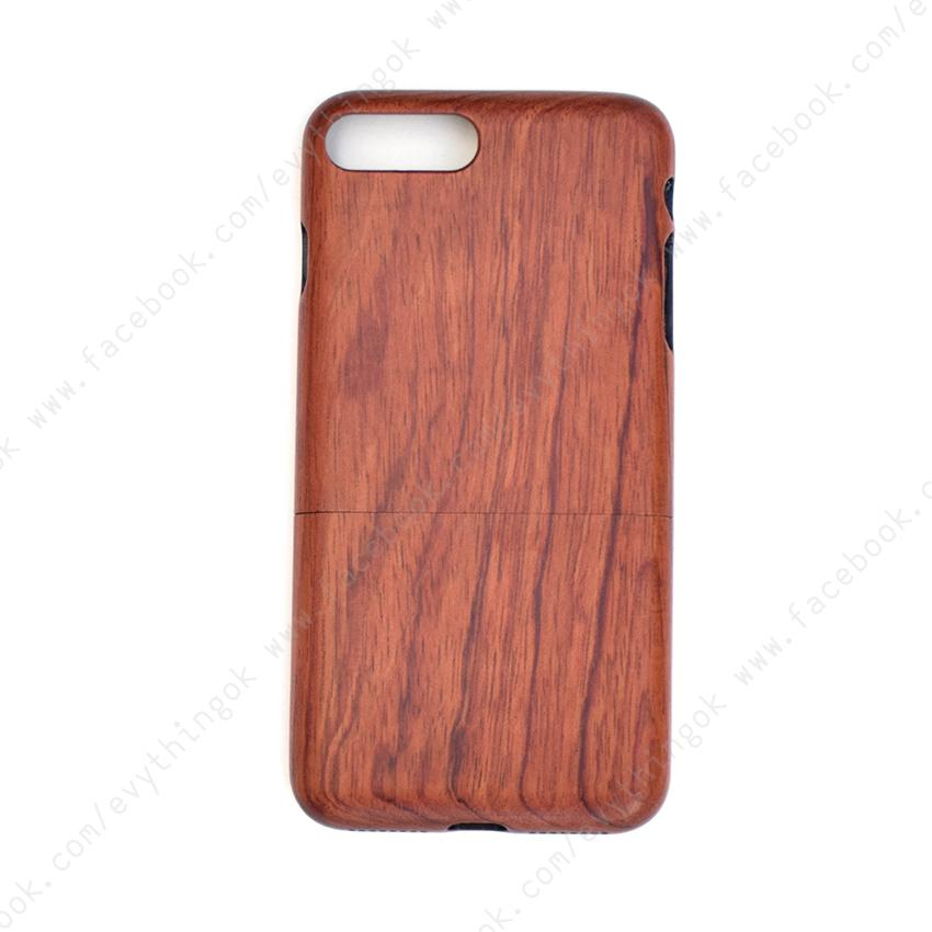 เคสไม้แท้ iPhone 7/8 plus ไม้โรส