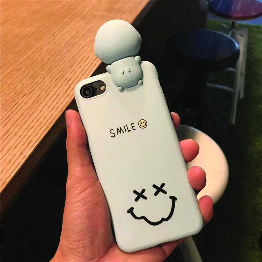 เคส iPhone Smile สีฟ้า มีไฟ Selfie