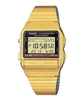 นาฬิกา CASIO ดิจิตอล สีทอง รุ่น DB-380G-1 STANDARD DIGITAL RETRO CLASSIC ของแท้ รับประกันศูนย์ 1 ปี