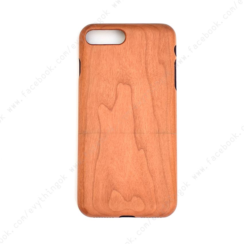เคสไม้แท้ iPhone 7/8 plus ไม้เชอรี่
