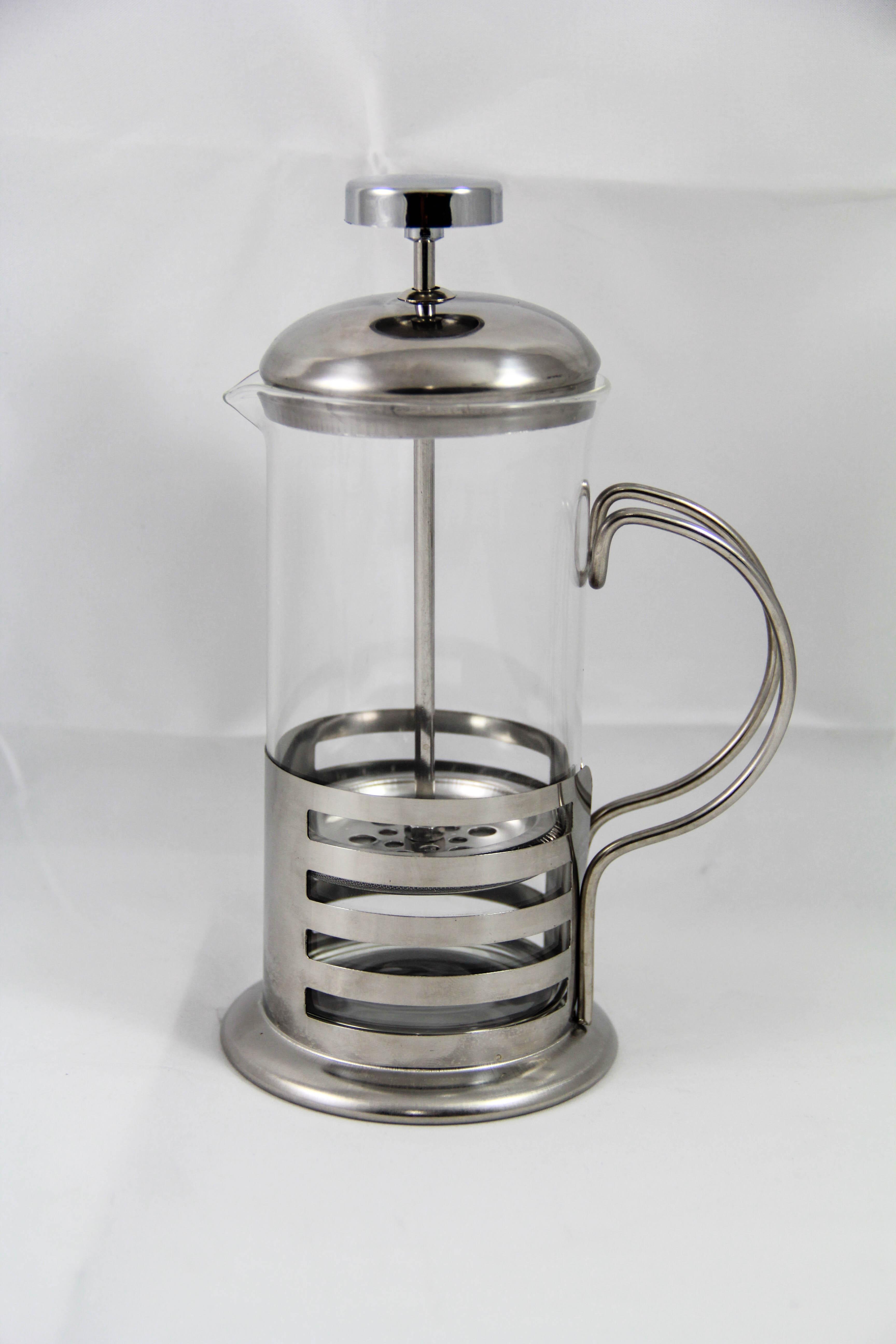 French Press กาชงชา / กาแฟ (สีเงิน)