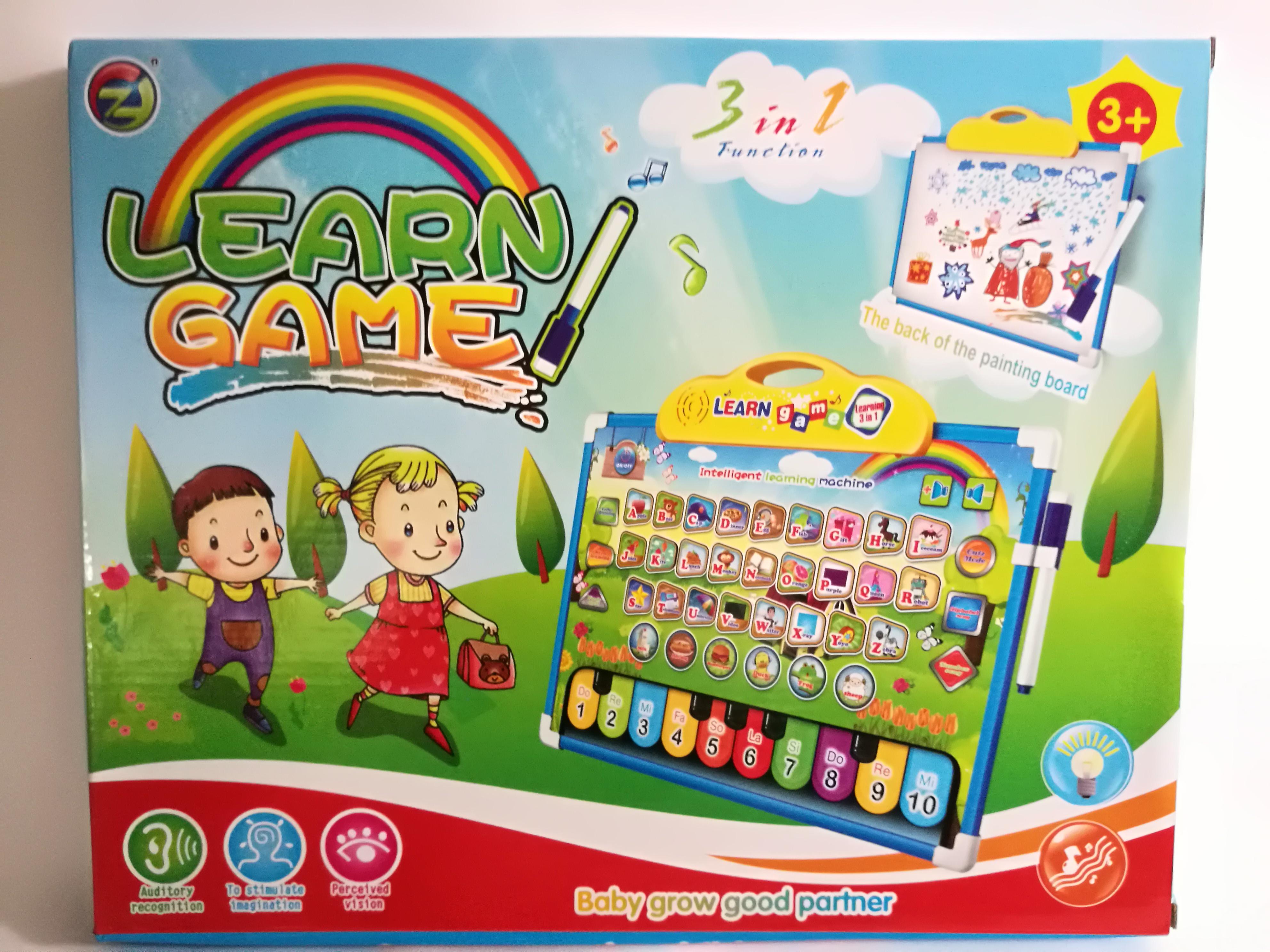 พร้อมส่งส่งฟรี กระดานเรียนรู้ภาษาอังกฤษ 2in1 learning game
