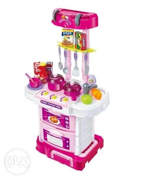 ชุดโต๊ะครัวกระเป๋าลาก little cheif พร้อมส่งสีชมพู ส่งฟรี