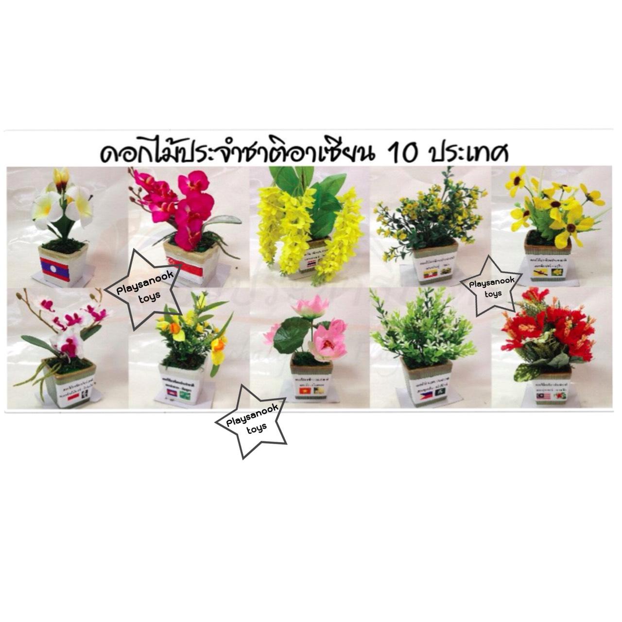 PF-006 ดอกไม้ประจำชาติอาเซียน10 ประเทศ
