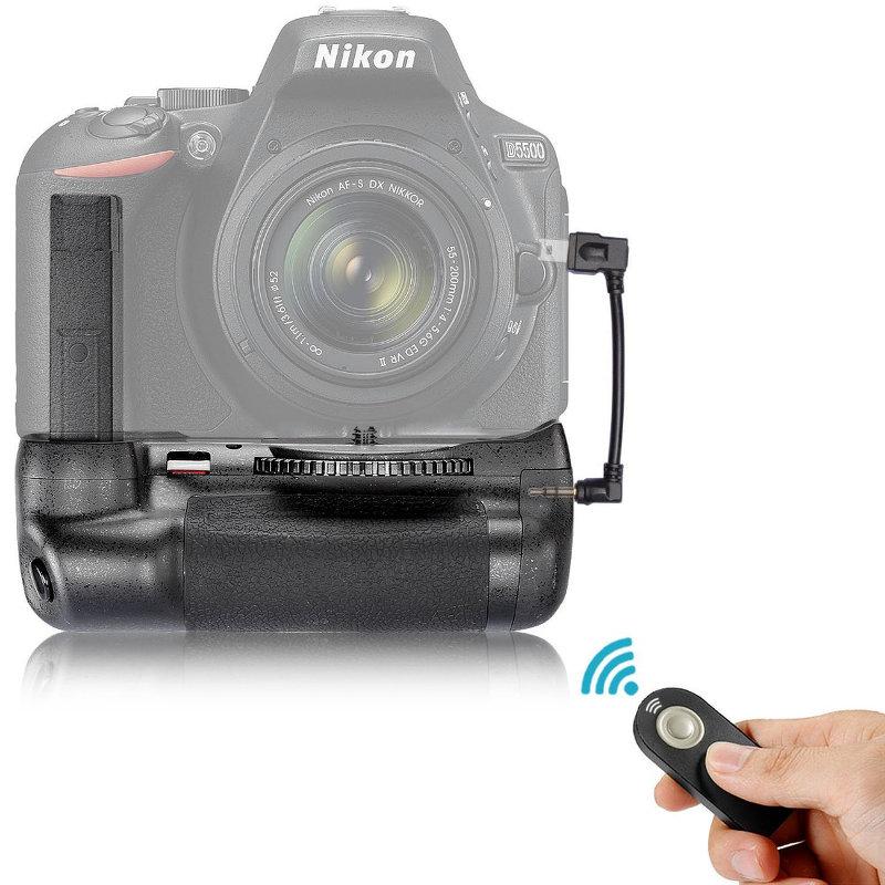 Battery Grip(แบ็ตเตอรี่กริ๊ป) พร้อมฟังก์ชั่นรีโมทคอนโทรล(IR) สำหรับกล้อง Nikon DSLR D5500
