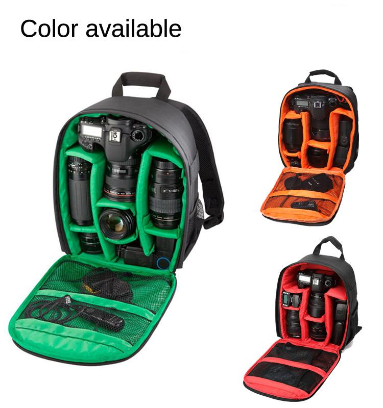กระเป๋ากล้อง Tigernu รุ่น T-C6003 แบบสะพายหลัง, กันน้ำ, กันรอยขีดข่วน(3สีภายใน,แดง/เขียว/ส้ม)