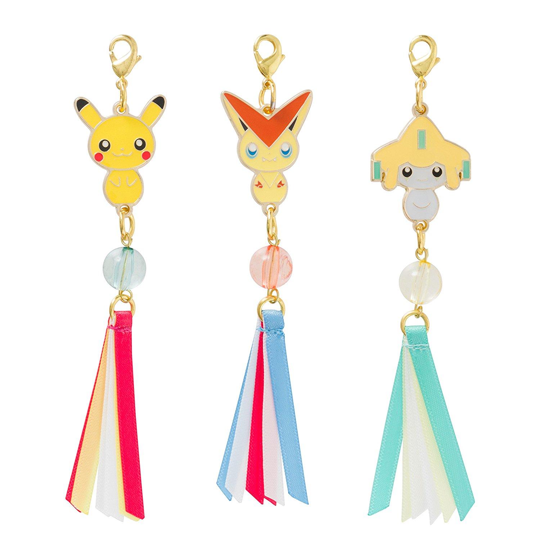 Pokemon Charm Set ของแท้ JP [พวงกุญแจโปเกมอน] (3 ตัว)