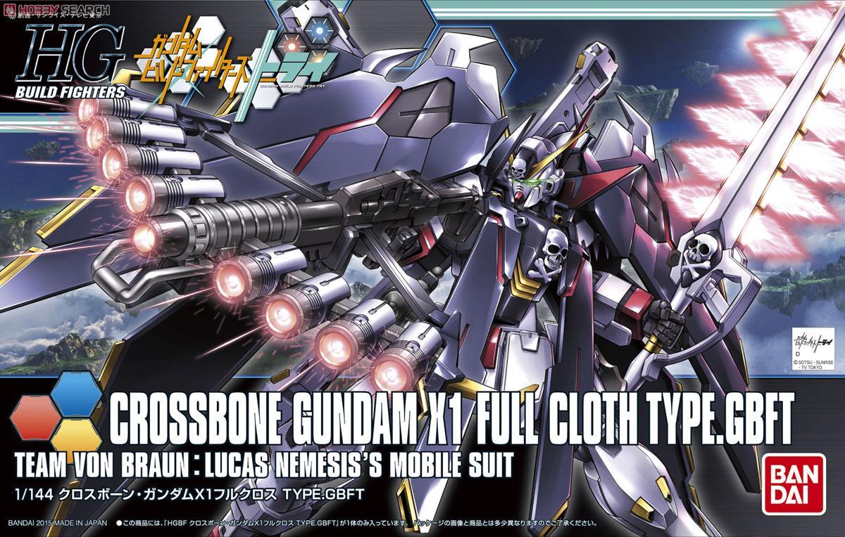 Bandai HGBF Crossbone Gundam X1 Cloth TYPE.GBFT