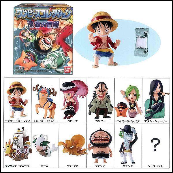 Fishman Island Set ของแท้ JP แมวทอง - SD Bandai [โมเดลวันพีช] (12 ตัว)