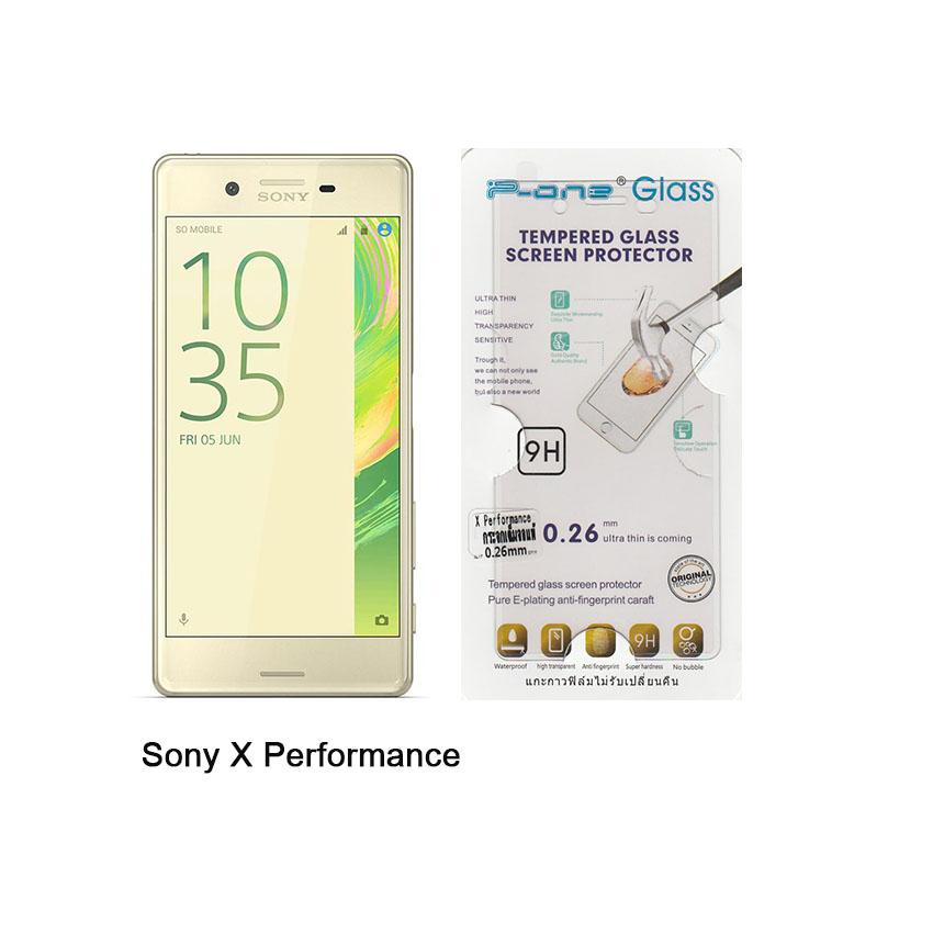 P-one ฟิล์มกระจก Sony X Performance เต็มจอสีใส