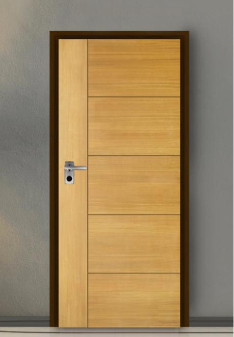 ประตู Leo iDoor Series4 iDoor-46-White Teak(ภายใน) 3.4*80*200 เมตร
