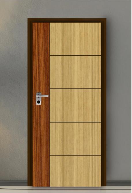 ประตู Leo iDoor Series3 LW-36-White Teak-Brazilian Teak(ภายใน) 3.4*80*200 เมตร