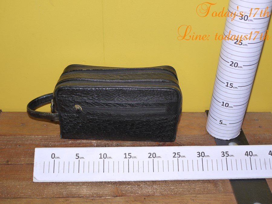 กระเป๋าหนังนกกระจอกเทศแท้ใส่อุปกรณ์/เครื่องสำอาง