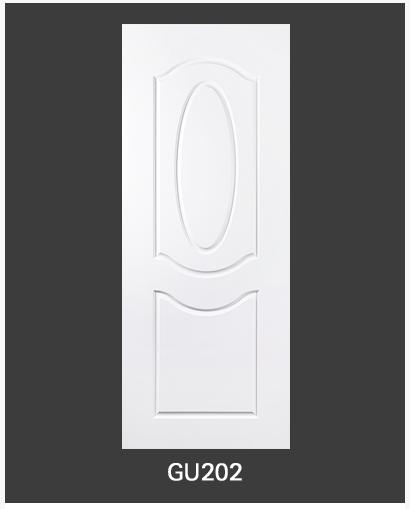 ประตู uPVC 2 ช่องโค้ง GU-002/202 90*200 สีขาว เจาะลูกบิด Green Plastwood