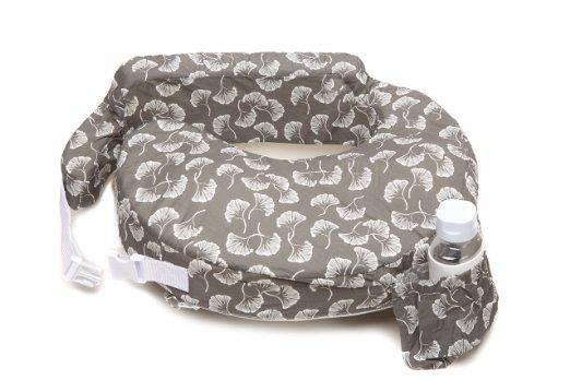 หมอนรองให้นม My Brest Friend Nursing Pillow รุ่น Original ลาย Flowing Fans, Grey, White