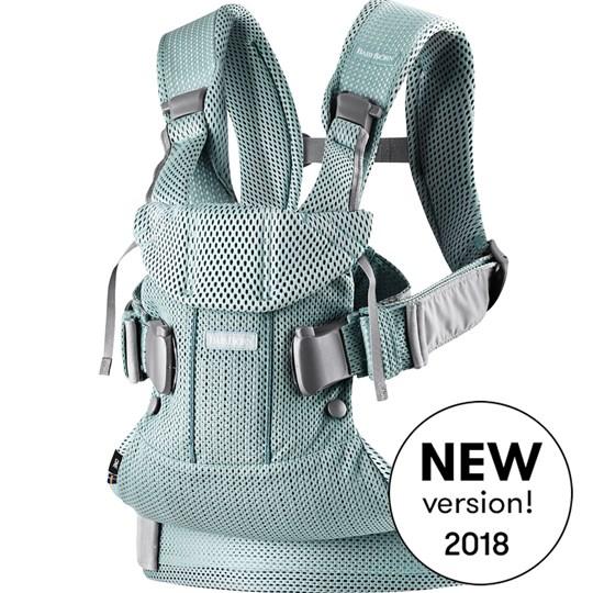 เป้อุ้มเด็ก BABYBJORN Baby Carrier One Air, Frost green, 3D Mesh 2018 Version รุ่นใหม่ล่าสุด สีเขียวอมเทา