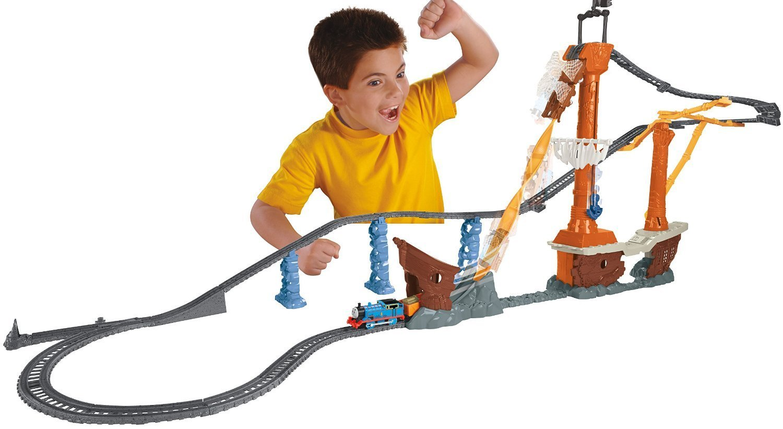 เซตรถไฟโทมัส พร้อมราง Fisher-Price Thomas the Train TrackMaster Shipwreck Rails Set