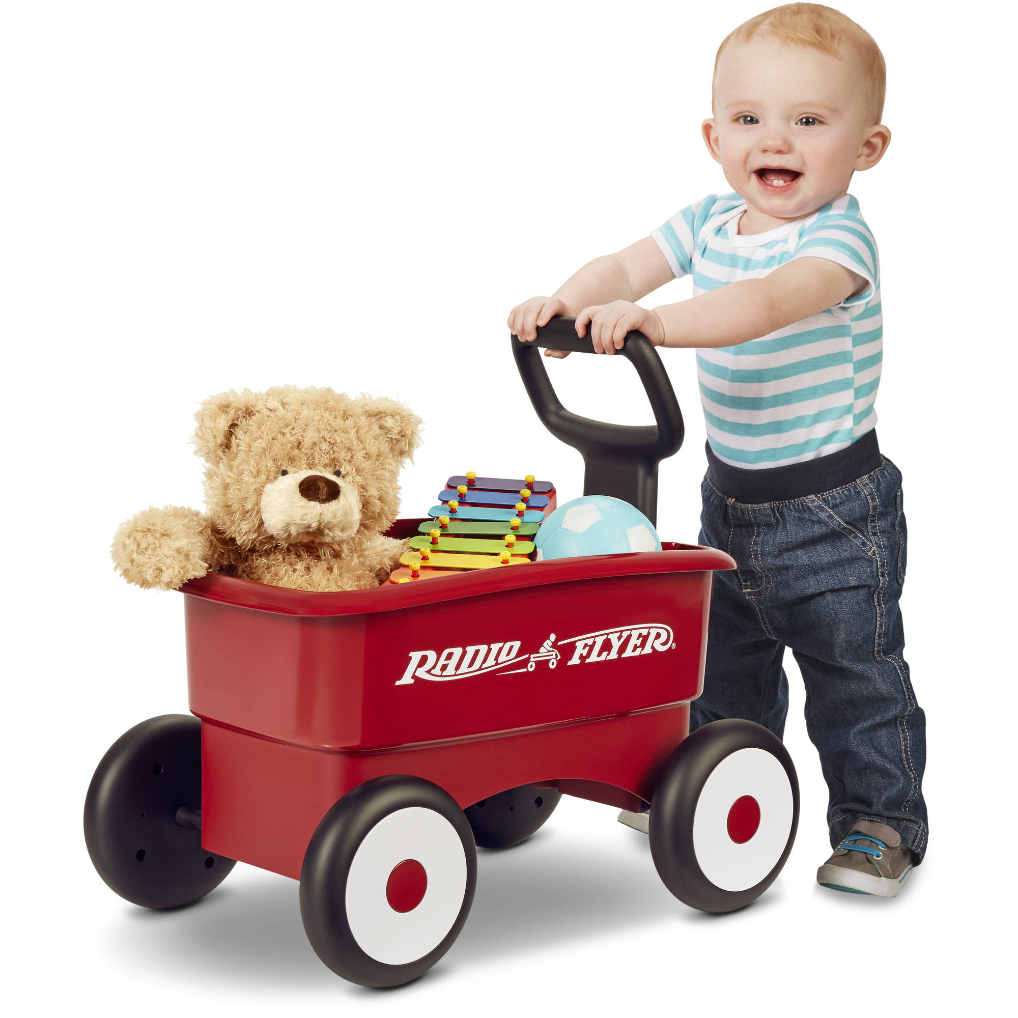 รถเข็น เพื่อฝึกเดิน และ รถลาก Radio Flyer My 1st 2-in-1 Wagon