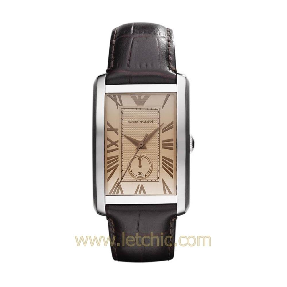 นาฬิกา Emporio Armani รุ่น AR1605 นาฬิกาข้อมือผู้สายหนัง สีน้ำตาล ของแท้ ประกันศูนย์ไทย 2 ปี ส่งพร้อมกล่อง และใบรับประกัน