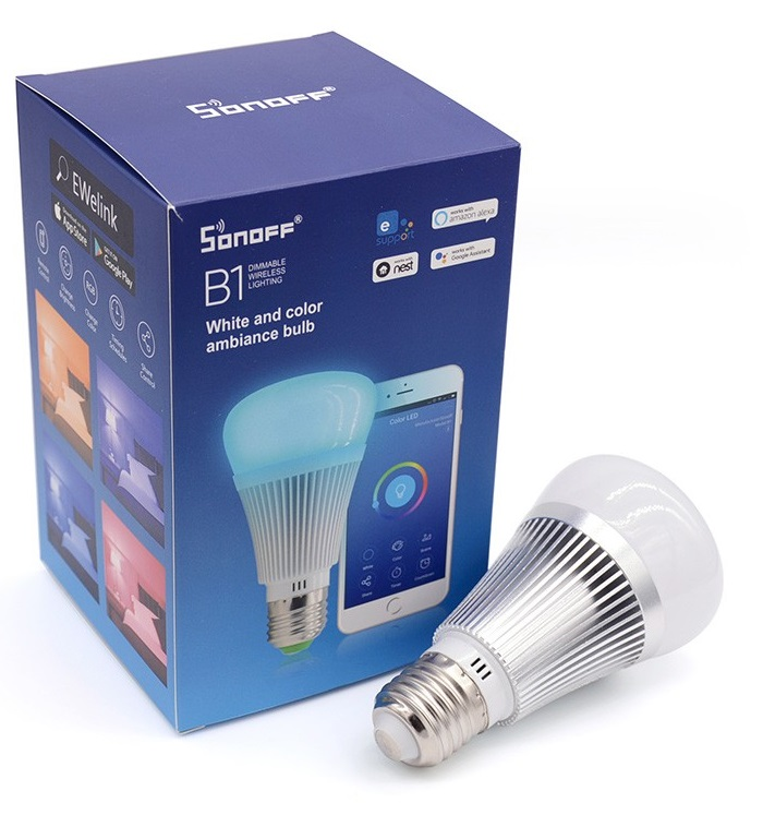 Sonoff B1: Dimmable E27 LED Lamp RGB Color Light Bulb