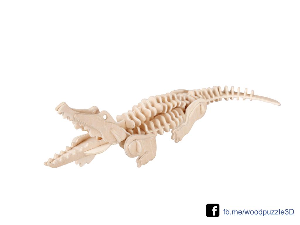 ตัวต่อไม้ 3 มิติ จิ้กซอว์ไม้ ตัวต่อไม้คุณจระเข้ 3D Animal Puzzle