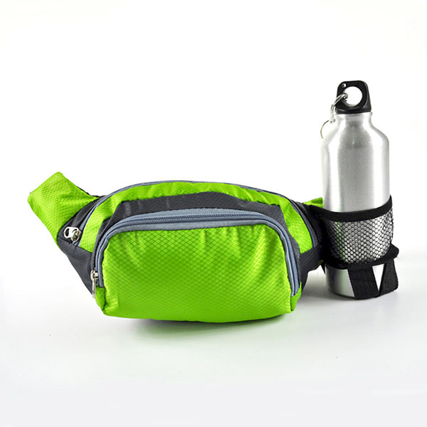 กระเป๋าออกกำลังกายคาดเอวพร้อมช่องใส่ขวด ไซส์ใหญ่