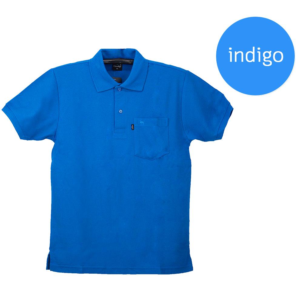 เสื้อโปโลชายสีน้ำเงินคราม