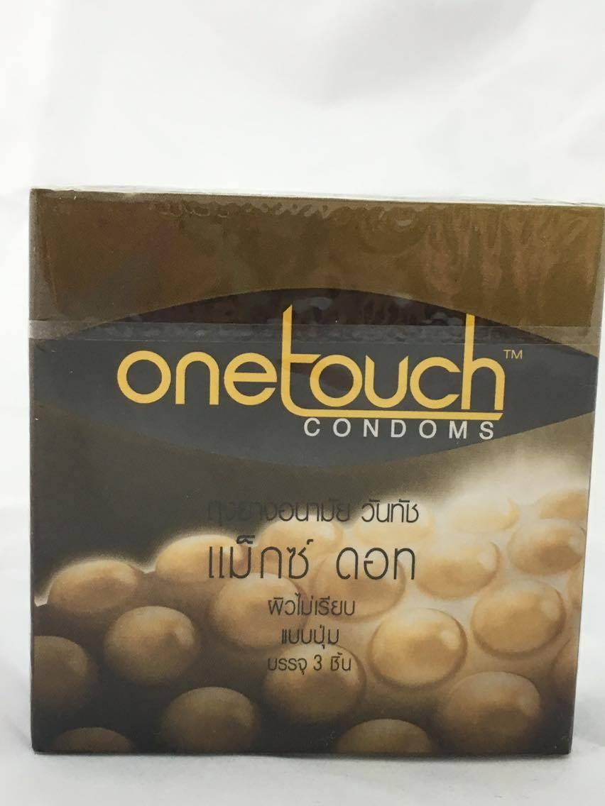 ถุงยางอนามัย onetouch maxx dot condom วันทัช แม็กซ์ ดอท บรรจุ3ชิ้น