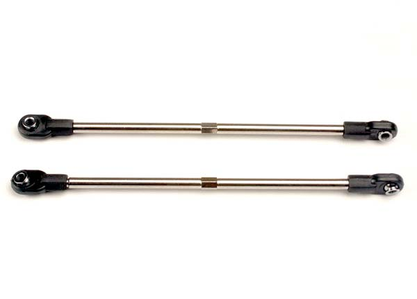 Turnbuckles, 116mm (rear toe control links) (2) (includes installed rod ends and hollow ball connectors)