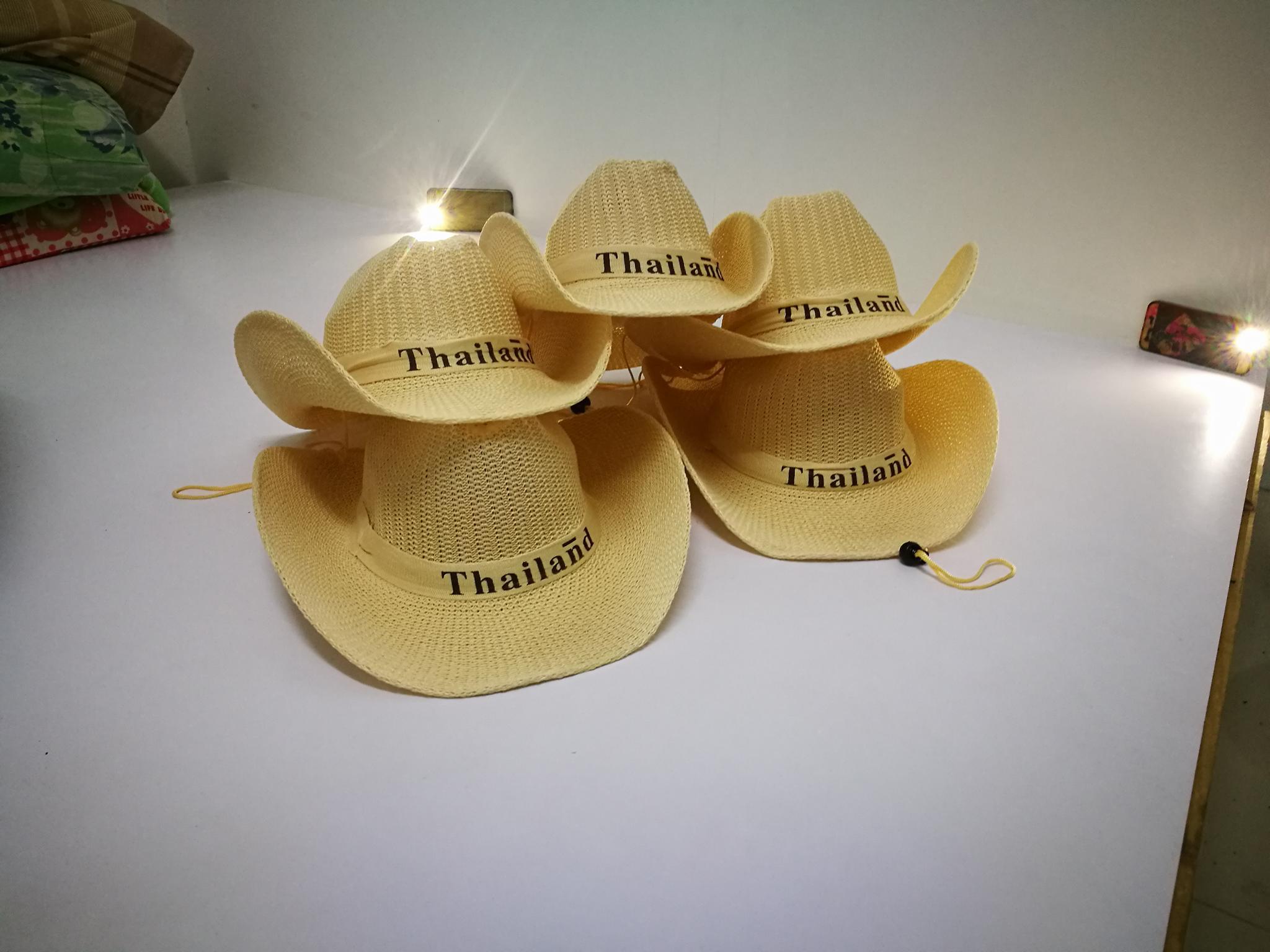 หมวกสาน งานป้ายญี่ปุ่น แนว ปานามา วัยรุ่นชอบ ตลาดโรงเกลือ