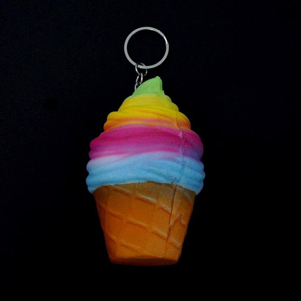 พวงกุญแจ สกุชชี่ไอติม(สีรุ้ง) 12อัน