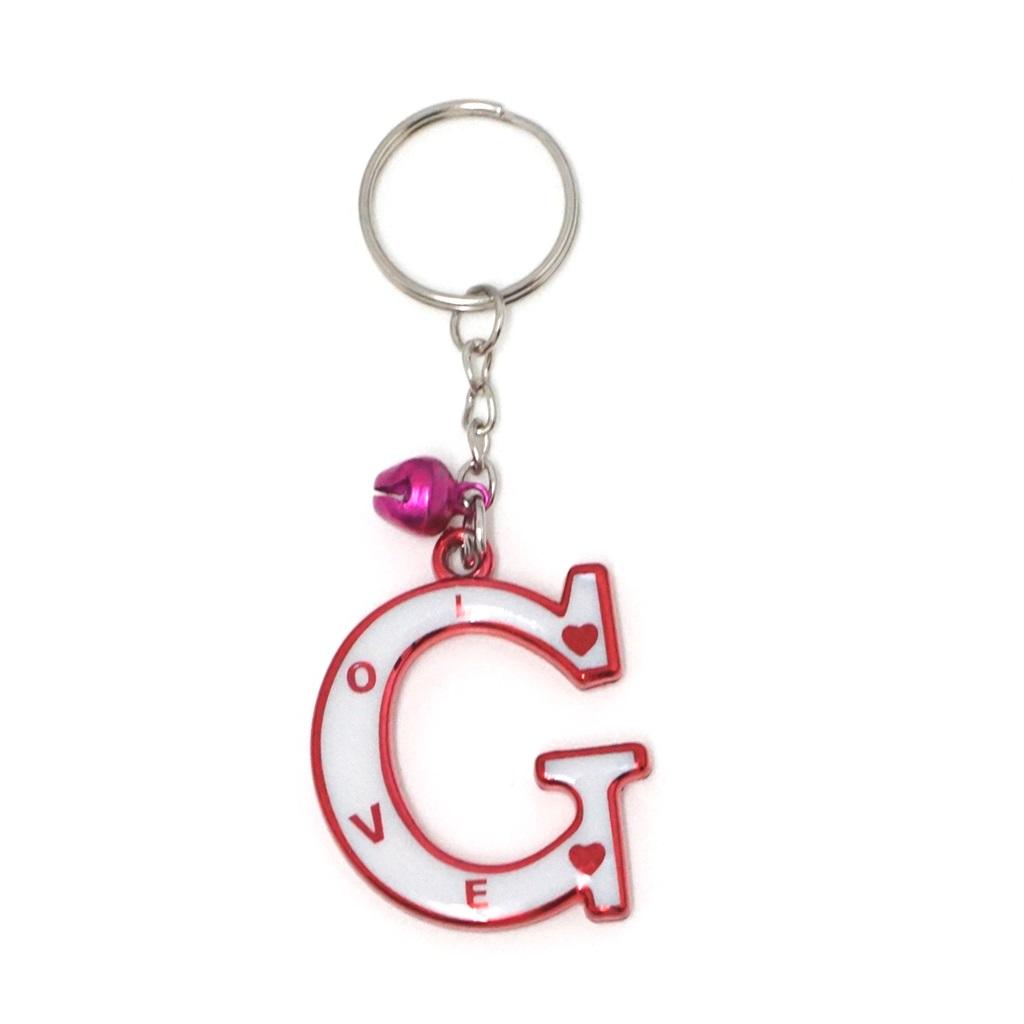 พวงกุญแจตัวอักษร G 12อัน