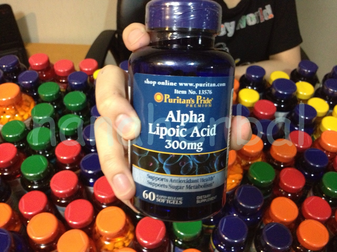 Puritan's Pride Alpha Lipoic Acid 300 mg. 60 Softgels