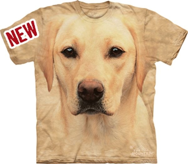 Big Face Yellow Labrador Dog Portrait T-Shirts