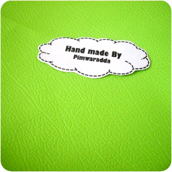 หนังเทียมสีเขียวสดใส แบ่งขาย 1 หน่วย = ขนาด1/4 หลา : 45X 65 cm