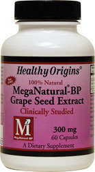 Healthy Origins - MegaNatural ® -BP Grapeseed Extract 300 mg 60 Capsules