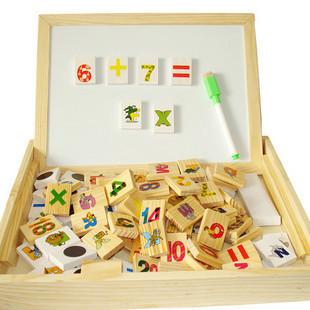 กล่องกระดานไวท์บอร์ดพร้อมตัวอักษร/ตัวเลขแบบแม่เหล็กและแบบโดมิโน